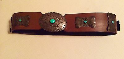 Sterling Silver Turquoise Concho Belt