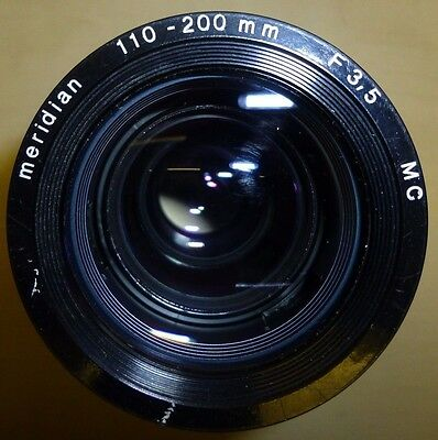 Meridian 110 / 200 MM F3.5 MC Slide Show PROJECTION LENS Projector Photography