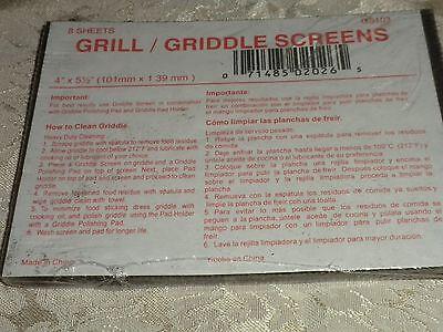 """GRILL GRIDDLE SCREENS FOR CLEANING COMMERCIAL GRILLS  4"""" x 5.5""""  2PACKS OF 8 NEW"""