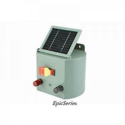 NEW Solar Powered Electric Fence Charger Farm Horses & Cattle Adjustable Control