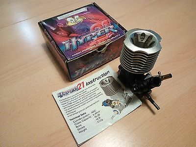 Hyper .21 8 Port Race Nitro Engine with Boost chamber USED 1/8 Buggy.