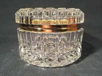 Vintage French Crystal Quality Large Hinged Trinket/Jewellery Box (ref W179)