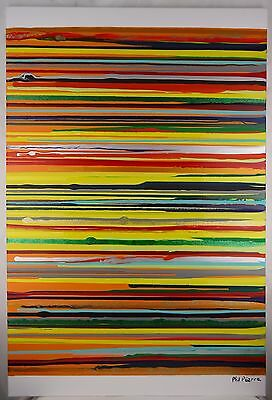 Phil Pierre - STRIPES 089 - new original abstract acrylic art painting on canvas