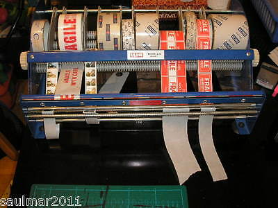 "ULINE 12"" Table Top Label & Tape Dispenser HEAVY DUTY Lightly Used NO TAX U-LINE"