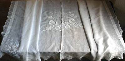 Table Runner Church Lace Passion Flower Embroidery Altar Vintage Religious/285