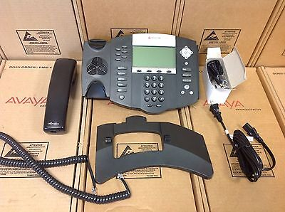 Polycom SoundPoint IP 650 IP650 SIP 2201-12630-001 Phone W/ STAND,HANDSET,POWER