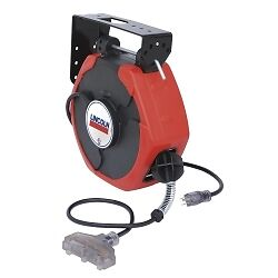Lincoln Industrial 91029 Plastic Cord Reel 50', T-Tap, Clear Lighted