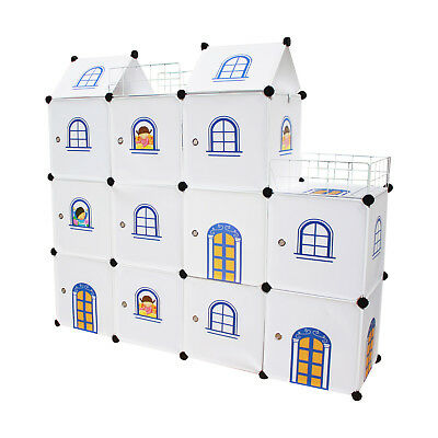 Kids Castle Cubes - Toy Boxes Wardrobe Storage Organizer Units Bookcases Shelves