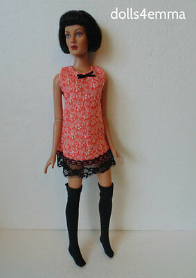 "TYLER Clothes Tonner 16"" dolls handmade Dress & Stockings Fashion NO DOLL d4e"