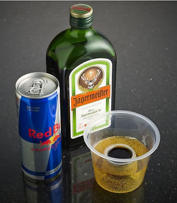 200 x Jager Bomb Glasses Plastic Cups Disposable Shots Glass Double Shot