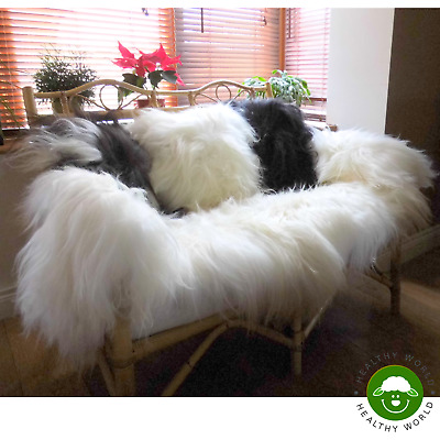 GIANTS also! up to 150cm! RARE SIZE! Genuine ICELANDIC SHEEPSKIN RUGS (Lambskin)