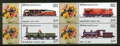 India 2011 INDIPEX Personalized My stamp on Locomotive Train Railway Transport M