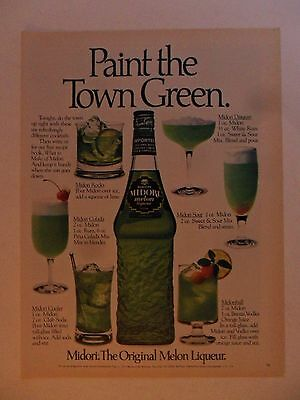 1981 Print Ad Old Suntory Japanese Whisky ~ Paint the Town Green