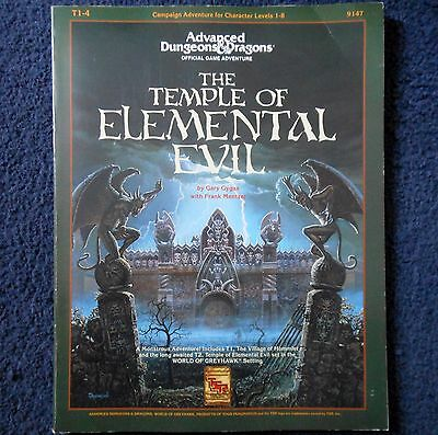 T1-4 The Temple of Elemental Evil Advanced Dungeons & Dragons Module AD&D 9147