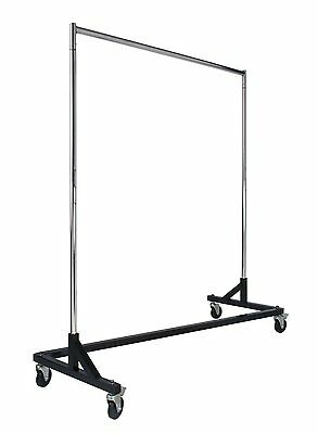 Econoco Commercial Rolling Z Rack with KD Construction   Durable Square Tubing
