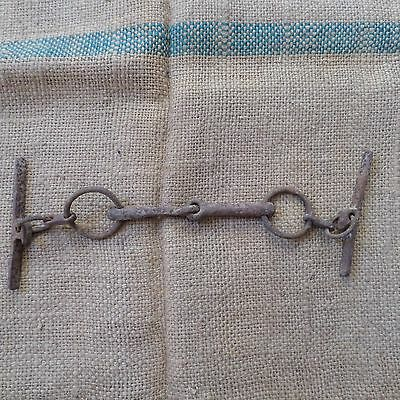 Antique Ottoman Empire Wrought Iron Horse Harness Bit Blacksmith Hand Forged