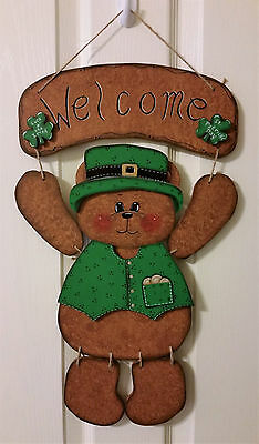 Hand Painted Seasonal Bear Wall Hanging ONLY, OUTFITS SOLD SEPARATELY
