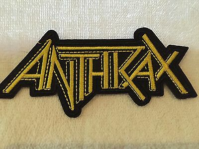 Anthrax Logo Thrash Metal Music Soft Embroidered Iron/Sew On NEW Patch Free Ship