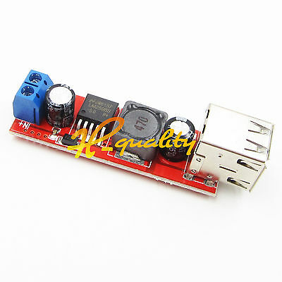 DC-DC Step Down Converter Module LM2596 DC 6V-40V To 5V 3A Double USB Charge