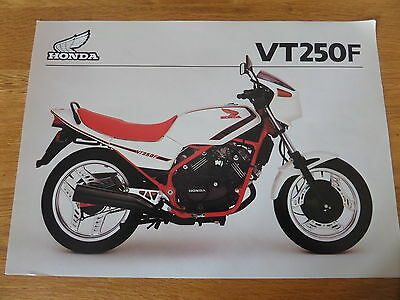 Honda VT250F Motorcycle Sales Brochure 1983