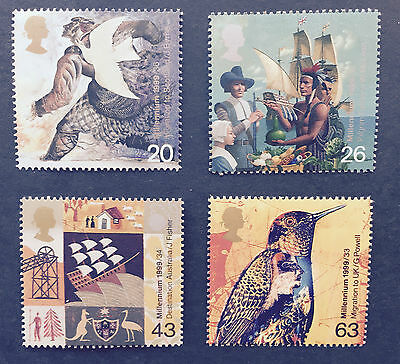 1999 GB Settlers Stamp set mint MNH at FACE VALUE!