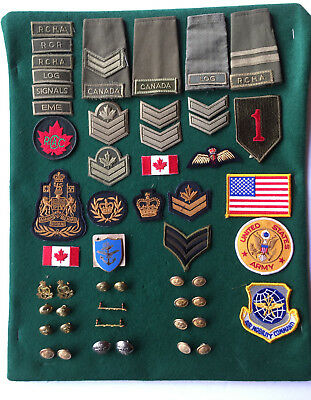 Mixed Lot Of Canadian And U.s. Military Badges