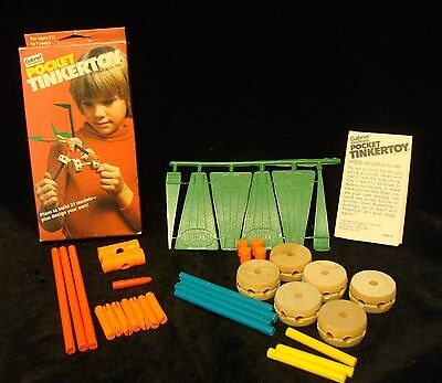 POCKET TINKERTOY Gabriel 1979 COMPLETE with Manual UNPUNCHED