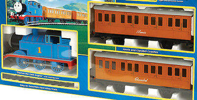 BACHMANN G-Scale Thomas With Annie & Clarabel Short Set-Thomas & 2 Coaches Only