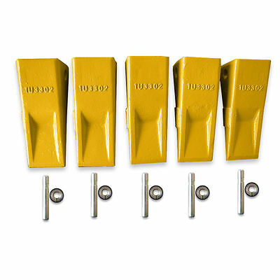 Set Of 5 - 1U3302 Cat Style J300 Standard Tooth Plus Pin And Retainer