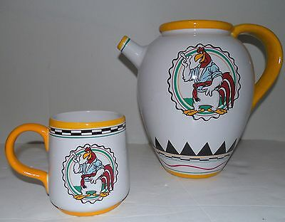 Warner Brothers Looney Tunes Foghorn Leghorn Rooster Pitcher with MATCHING MUG