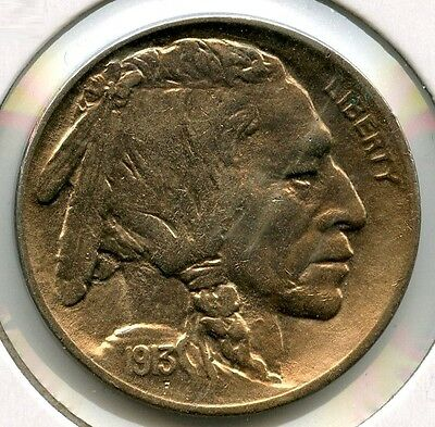 1913 Indian Head Buffalo Nickel - Type 2 - Unc - Philadelphia Mint - AH159