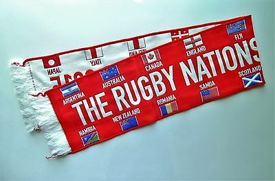 RUGBY WORLD CUP SCARF 2015 RWC MEMORABILIA - Rugby Nations of The World Scarves