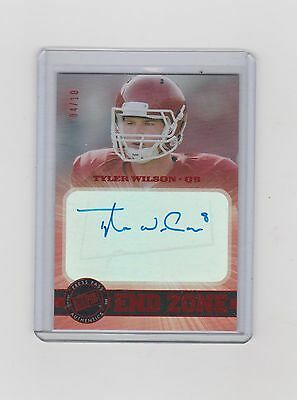 2013 Tyler Wilson Press Pass Showcase End Zone Red Auto 04/10