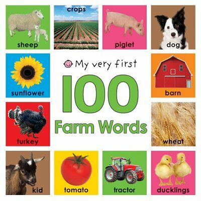 My Very First 100 Farm Words, Roger Priddy Board book Book The Cheap Fast Free