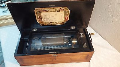 Vintage Antique Columbia Music Box Swiss Made. Pat. 1884. Plays 12 Songs