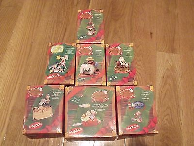 Enesco Mice / Mouse MEMBERS ONLY Christmas Series 1990sOrnaments in Box's