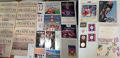 Large Lot of 50 Summer & Winter Olympic Games Collectibles & Memorabilia 1974-98