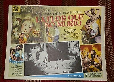 Vintage Undated Mexican Lobby Card-Green Mansions-Audrey Hepburn/Anthony Perkins