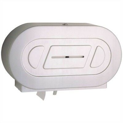 Bobrick B-2892 Surface-Mounted Twin Jumbo-Roll Toilet Tissue Dispenser