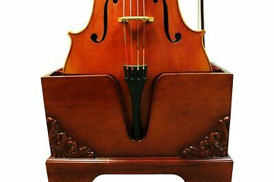 Christino Artist Wooden Cello Stand Solid Wood Walnut Finish Bow Holder Musical