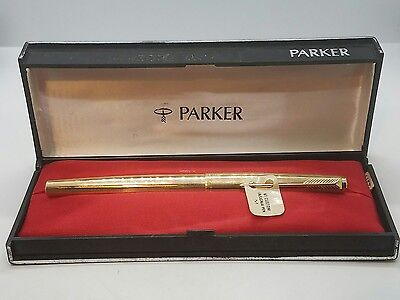 Great Vintage Parker 61 12K Gold Filled Custom Insignia Fountain Pen