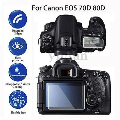 1 Pack Camera LCD Tempered Glass Screen Protector Guard For Canon EOS 70D 80D
