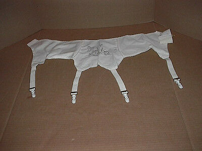 "Vintage White Garter Belt  by Empire Foundations    Style 734      ""26"""