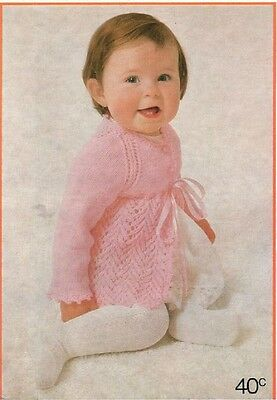 Vintage Baby Pattern Book Patons 998  Knitting for babies & toddlers