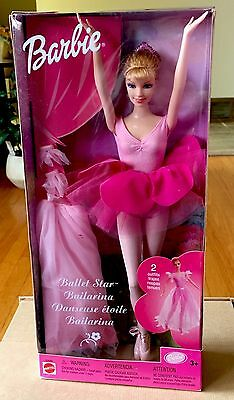 Mattel Ballet Star Barbie Doll-NEW IN BOX.2001. Blonde Hair. Two Outfits!