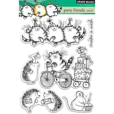 """Penny Black Clear Stamps 5""""X7"""" Sheet - Party Friends"""