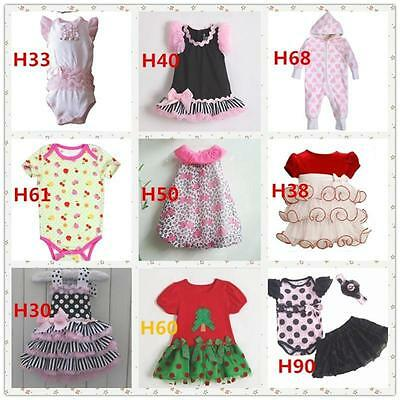 New Discount Cute Baby Girl's Clothes Dress/Romper Jumpsuit Newborn 0-24 Momths