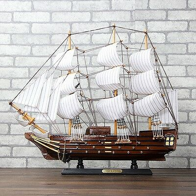 """19"""" Handcrafted Wooden Model Ship Boat Decor"""