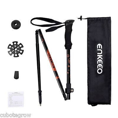 3-section Collapsible Extending Trekking Camping Hiking Poles Walking Stick EVA
