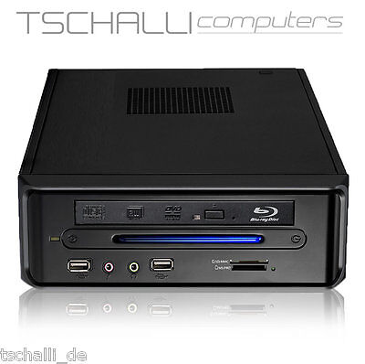 Quad-Core Mini PC Intel J3455 4K DVD SSD HDMI USB 3.0 stromspar lautlos i37